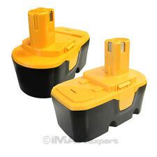 2 18V 2.0AH Ni-Cd Replacement Battery for Ryobi 130224028 130255004 P100 18 Volt