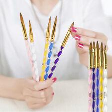 5 X Größe Acryl Gel Pinsel set für Nailart Künstlich Nagel Design Studio UV Neu