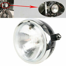 New Motorcycle Headlight Headlamp Light Round For Honda Custom Cafe Racer Amber