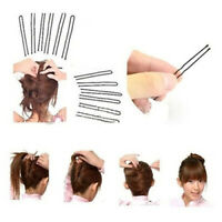 EB_ Girls Black Hair Clips Invisible Top Bobby Pins Wave Type Women's Long Hair