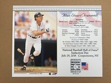 ALAN TRAMMELL DETROIT TIGERS 8X10 HALL OF FAME INDUCTION DAY CARD POSTMARKED