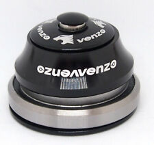 "Venzo 1-1/8""-1.5"" Tapered Bearing Headset (41/52mm) - Black"