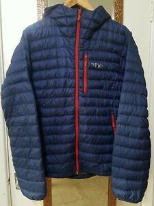 rab down mens jacket size M