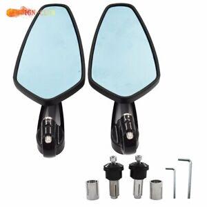 """7/8"""" Motorcycle Handle Bar End Rearview Side Mirrors For Yamaha Honda Kawasaki"""