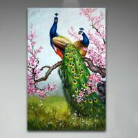 """16x24""""Peacock Art Paint By Number Digital Oil Painting Picture Printed On Canvas"""