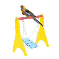 Funny Parrot Bird Perch Stand Play Chewing Toys Gym Activity Table Top Swing