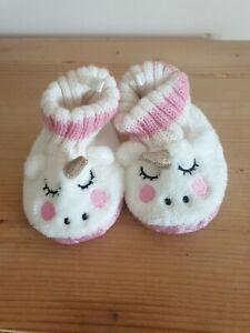 Girls Unicorn Slippers Age 6-9 Months