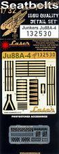 132530 HGW Seatbelts (LASER) - JUNKERS JU88A-4 (Revell) 1:32