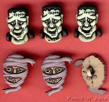 Facce spaventosa-Frankenstein Mummia Halloween Dress IT UP Pulsanti Craft