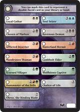 4x Check Card for Flip Cards Dark Ascension MtG Magic 4 x4 Card Cards