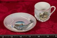 Vintage Painted Dragon San Francisco Tea Cup & Saucer made in Japan mbh