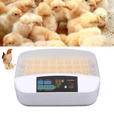 32 Digital Egg Incubator Automatic Hatcher Temperature Control Chicken Bird Eggs