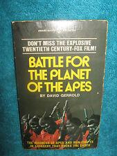 Battle for the Planet of the Apes-David Gerrold-Vintage Paper Back-1973
