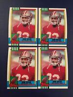 1991 Topps # 10 JOHN TAYLOR Lot 4 San Francisco 49ers Great Football Cards !