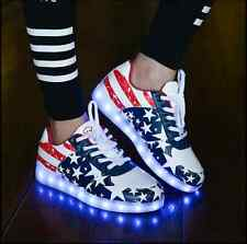 ***JULY 4*** - NEW Unisex LED Lights  sneakers Shoes (America Style)  +  USB