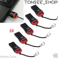 5PCS USB 2.0 Mikro-Sd SDHC TF Flash-Speicher Kartenleser Mini-Adapter für Laptop