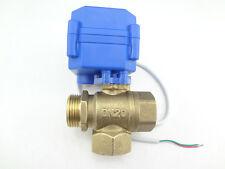 "1X3 way motorized ball valve G3/4"" DN20 12V (Reduce Port) L-Port Electric Valve"
