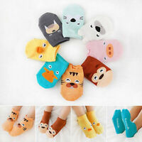 BABY BOYS GIRLS TODDLER ANKLE SOCKS CARTOON ANIMAL ANTI SLIP COTTON SOCKS FILL