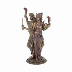 HECATE GODDESS OF MAGIC 21cm Greek Myth Bronzed Figurine Ornament Gift FREE P+P
