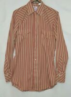 Miller Western Wear Vintage Pearl Snap Striped Shirt  size 14 1/2-33