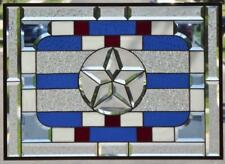 •Patriot •Stars & Stripes Forever ,Beveled Stained Glass Window Panel•