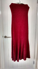 Red STRAPLESS LONG EVENING  DRESS SLEEVELESS size 10