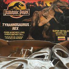 """JURASSIC PARK 20"""" Tyrannosaurus Rex Dinosauro KIT MODELLO T-REX Nuovo di zecca con scatola LINDBERG 1992"""