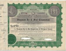 New listing Virginian Ice & Fuel Corporation.1934 Preferred Stock Certificate