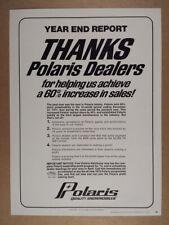 1972 Polaris Snowmobiles Dealer Thank You vintage trade print Ad