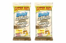 2 x DUZZIT LEATHER CLEANING WIPES CLEANS & PROTECTS ALL KIND OF LEATHER 50PK