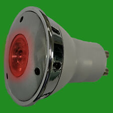 2x 3W LED GU10 Red Coloured Reflector Spotlight Decorative Bulb Lamp