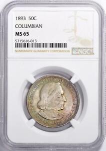 1893 Columbian Commemorative Silver Half Dollar - NGC- MS-65 - Toned