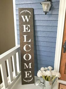 "Dollhouse Miniature Welcome Sign Porch Door Wood Board Farmhouse 1"" 1:12 Fairy"