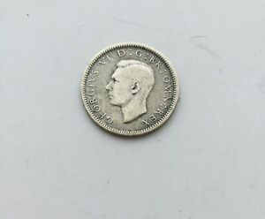 BRITISH COIN 1942 KING GEORGE VI SIXPENCE