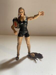 WWE Stephanie McMahon Elite Action Figure Series Milk-O-Mania With Women's Title