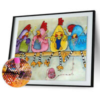 Chicken 5D Full Drill Diamond Painting Embroidery DIY Cross Stitch Decor