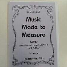 Clarinetto / VENTO TRIO DR Downing della musica su misura, largo, BACH