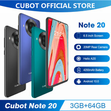 Cubot 6.5Zoll NOTE 20 Android 10 Handy 3GB+64GB Dual SIM NFC Face ID Smartphone