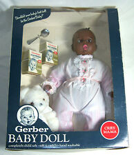 Vintage Gerber Baby Doll - African American Baby Doll w/ all accessories in Box