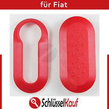 Fiat Autoschlüssel Schale Rot Punto 500 Bravo Dablo Cover Schutz Hülle Red Neu
