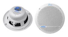 Pair Lanzar Aqua AQ6DCW 360 Watts 6.5'' Waterproof Marine Boat Speakers White