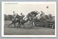 Rennbahn Karishorst BERLIN Horse Racing RPPC Antique German AK Foto Vintage