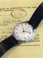 Vintage Immaculate Swiss REGUS Mens Mechanical Watch inc. Original Receipt