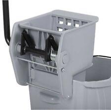 Commercial Wet Mop Bucket & Wringer Combo 36 Quart Gray Janitorial Hotel