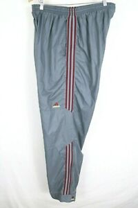 VTG Adidas Men's Sz 2XL Nylon Windbreaker Gray Maroon Striped Track Pants