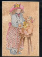 DRESS-UP GIRL Caring Boo Boo Arm TEDDY BEAR #80114 x-large STAMPS HAPPEN RUBBER
