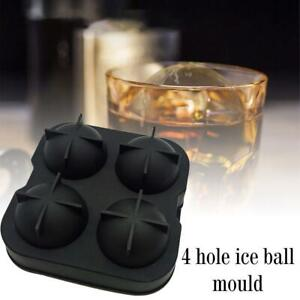 Large Ice Cube Tray Ball Maker Big Rubber Mold Sphere DIY Round Mould UK Hot New