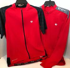 Pearl Izumi Select Mens Medium Cycling Jerseys Lot Of 2 Euc Long & Short Sleeve