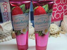 2  Bath and Body Works  ~ Bourbon Strawberry & Vanilla ~ Ultra Shea Body Cream