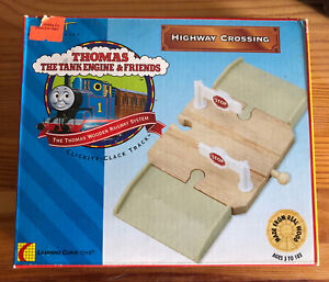 1996 Learning Curve Wooden Thomas Train Highway Crossing! NEW